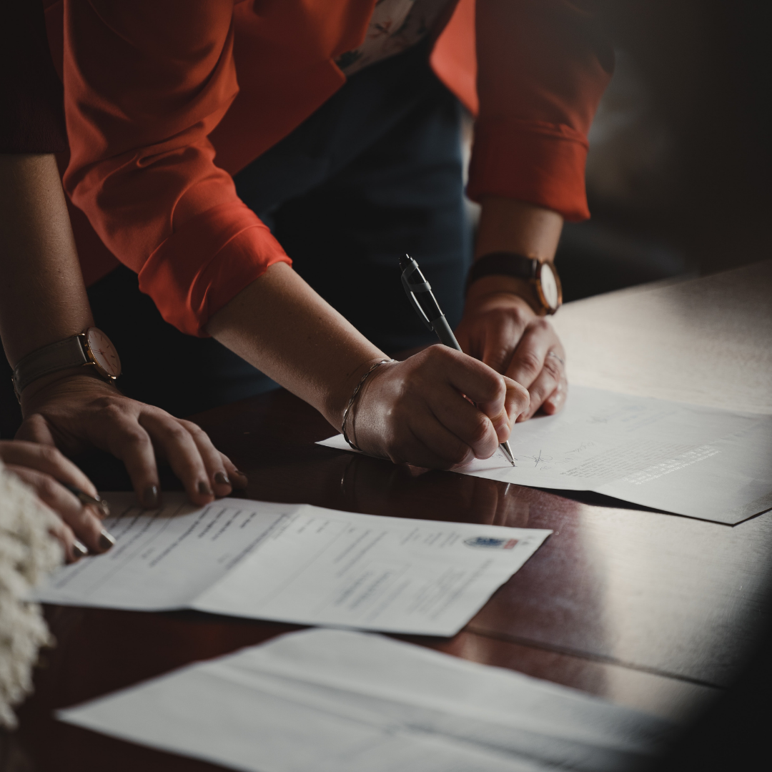 people signing Non-Parent Custody papers